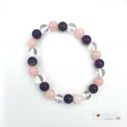 Bracelet - Quartz Rose,...