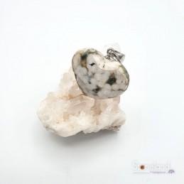 Pendentif cœur - Jaspe océan