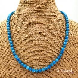 Collier  - Apatite bleue