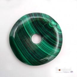 Pendentif - Donut  Malachite