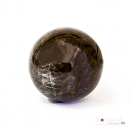 Sphère - Pierre de lune noire
