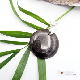 Pendentif - Obsidienne doré